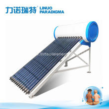 Heat pipe pressurized olar water heater